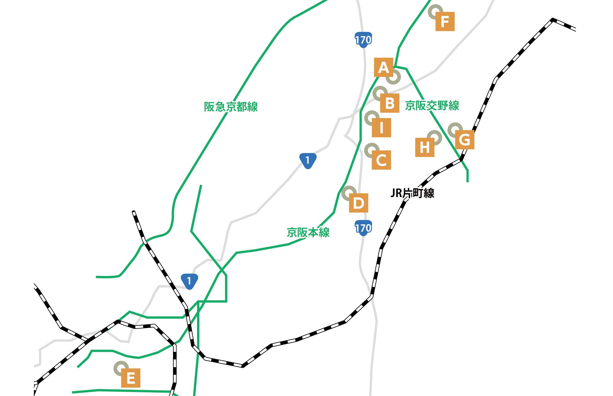 駅ちかスペシャリストとの連携  地図